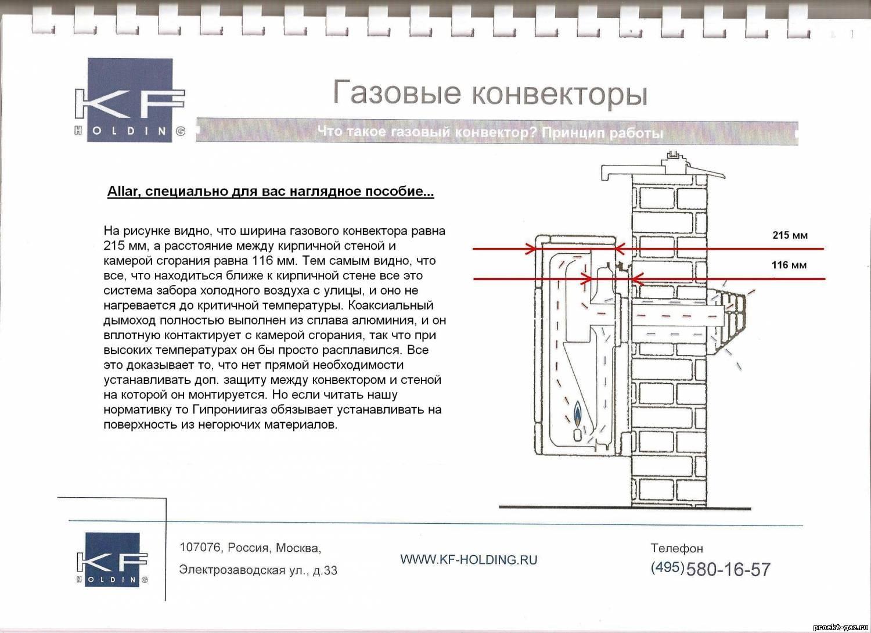 Установка газового конвектора в деревянном доме своими руками 100